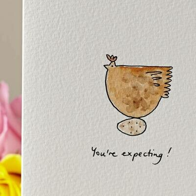 Broody Hen Pregnancy/New Baby Personalised Card