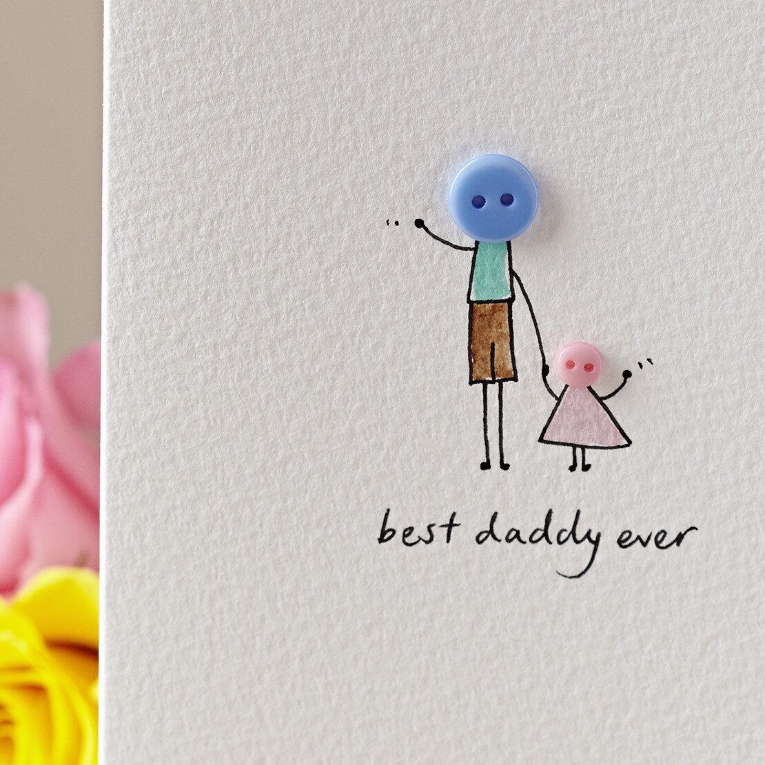 Button Daddy Personalised Card