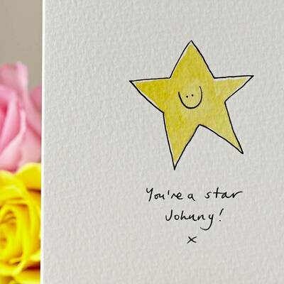 Smiley Star Personalised Card