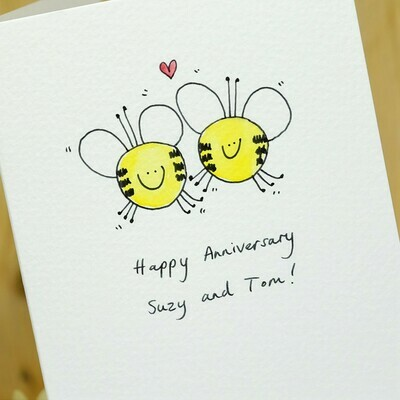 Bees in Love Personalised Card
