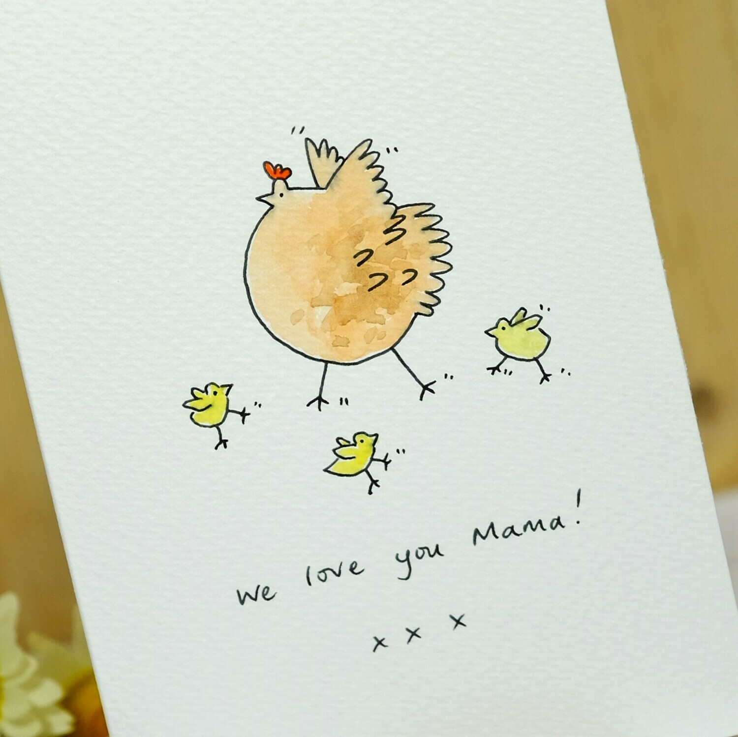 Hen and Chicks Personalised Card