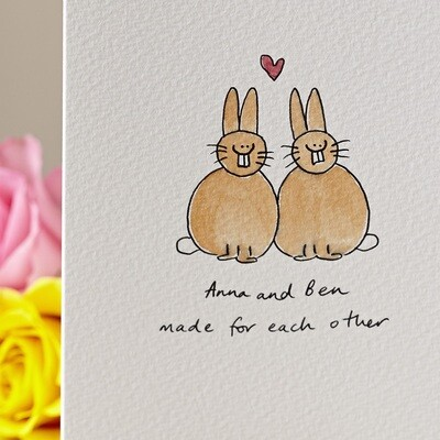 Lovebunnies Personalised Card
