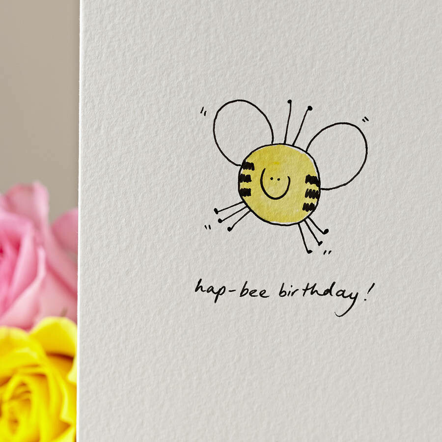Smiley Bee Personalised Card