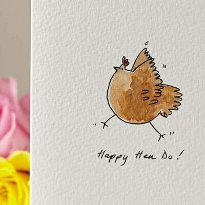 Dancing Chicken Personalised Card