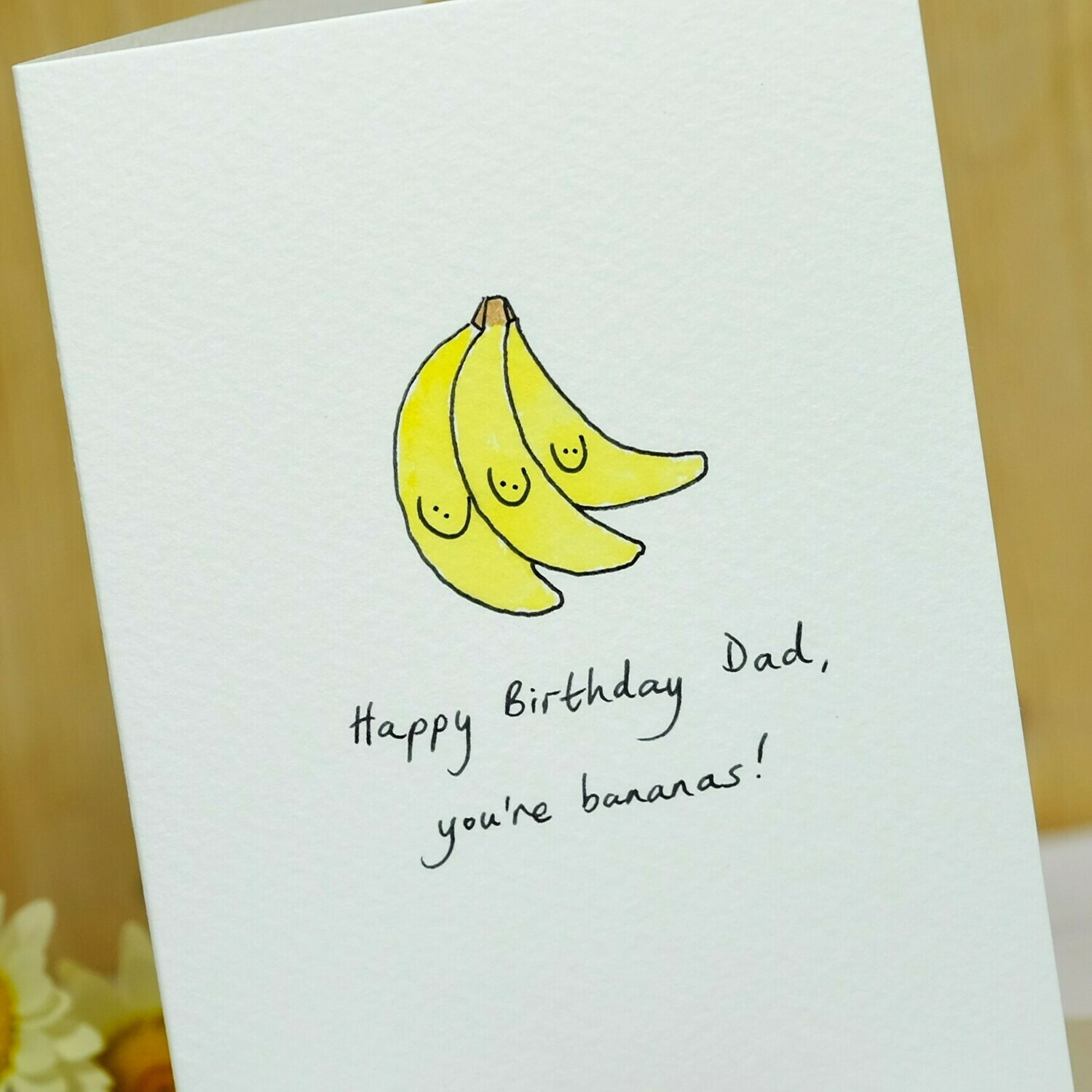 Smiley Bananas Personalised Card