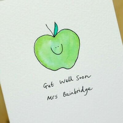 Smiley Apple Personalised Card