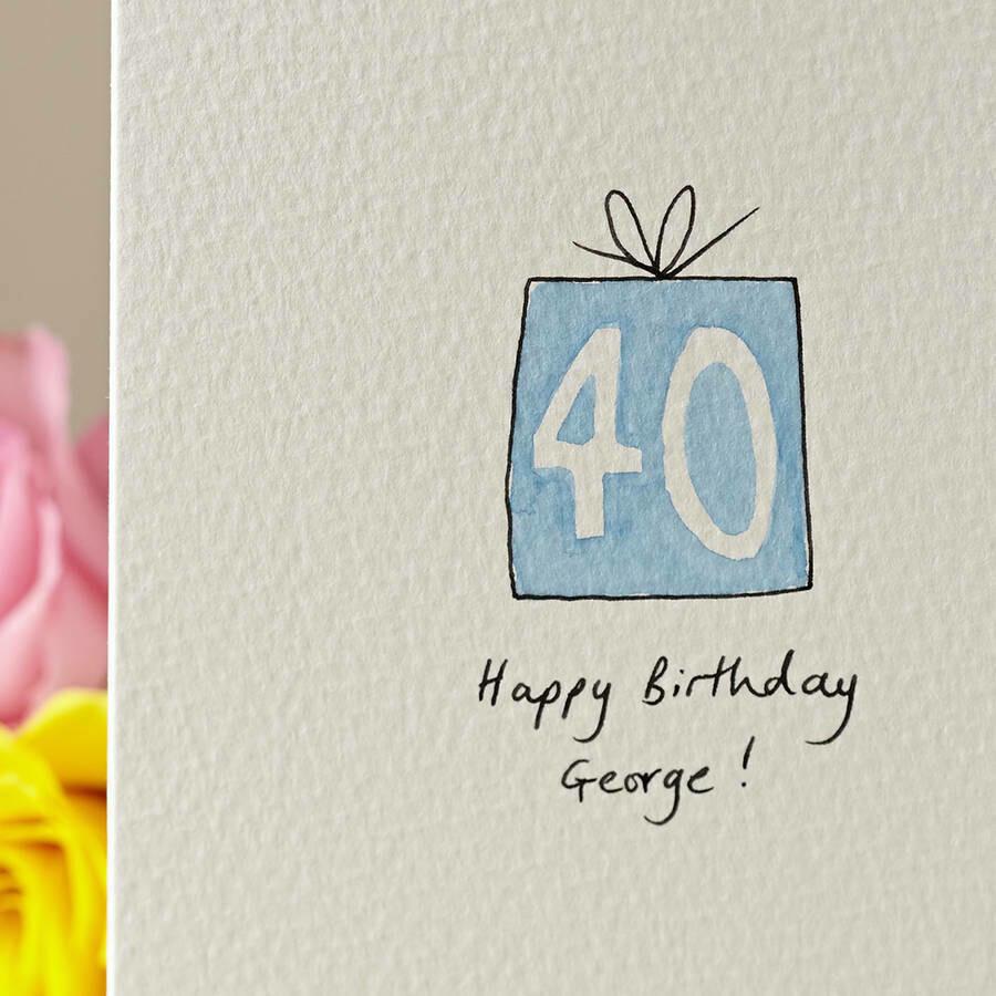 Birthday Present Personalised Card