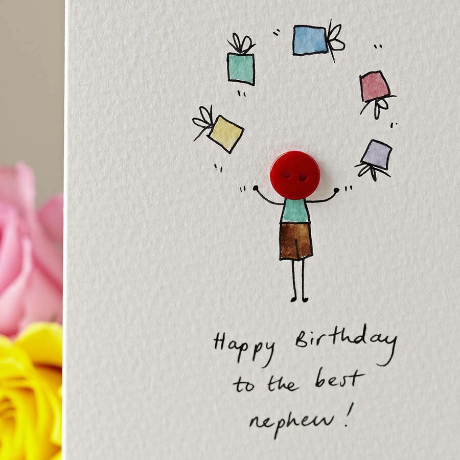 Button with Presents Personalised Card
