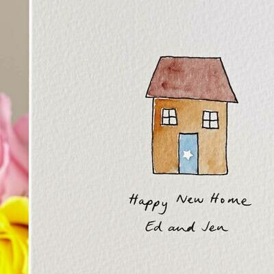 Sparkly House Personalised New Home Card