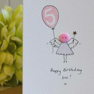 Button Fairy Personalised Birthday Card