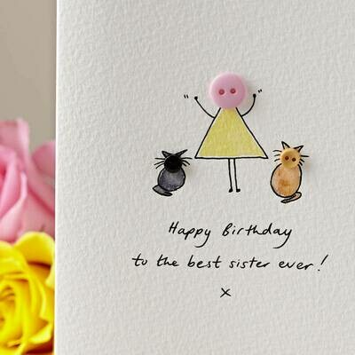 Button Pet Personalised Card