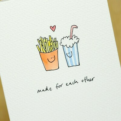 Fast Food in Love Personalised Card