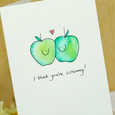 Apples in Love Personalised Card