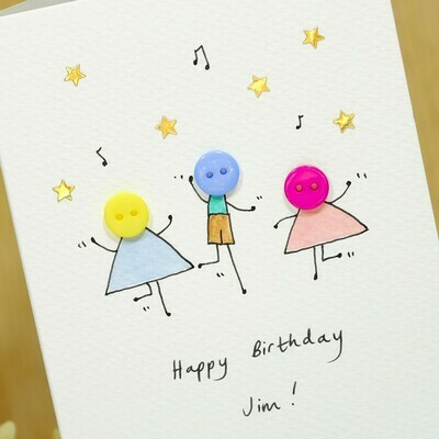 Button Party Personalised Card