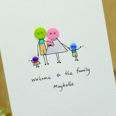 Button Family Personalised Card