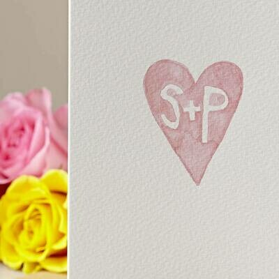Hand Painted Heart Personalised Card