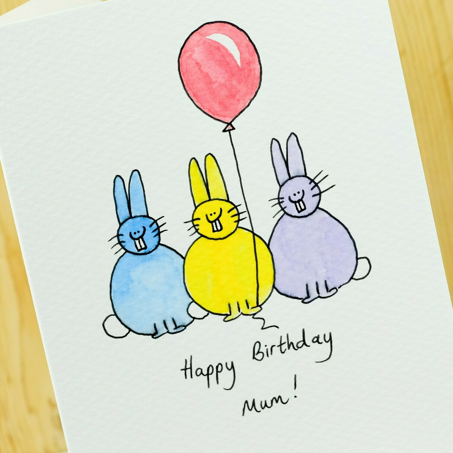 Bunny Party Personalised Card