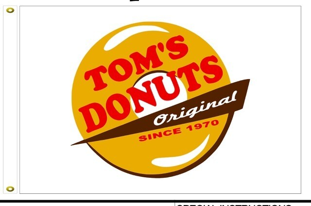 Tom's Donuts Flag