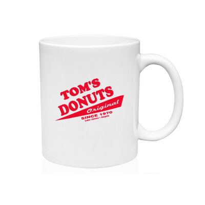 Tom's Donuts Mug - Red Logo