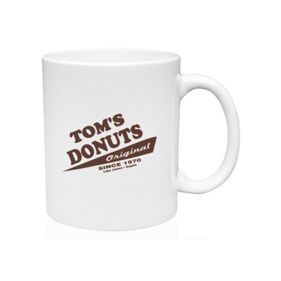 Tom's Donuts Mug - Brown Logo