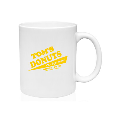 Tom's Donuts Mug - Yellow Logo