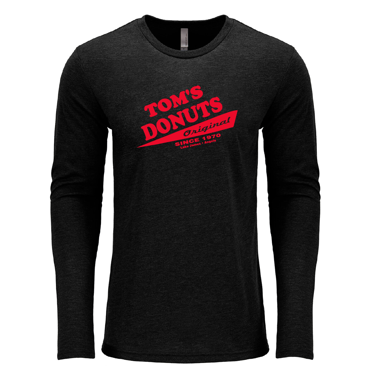 Unisex Tom's Vintage Black Long Sleeve Tee