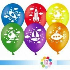 Гелиевые шары с рисунком «Ассорти путешественника»