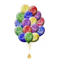 Гелиевые шары с рисунком «8 Марта»