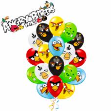 Гелиевые шары с рисунком «Angry Birds»