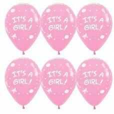 Гелиевые шары с рисунком «It's A Girl!»