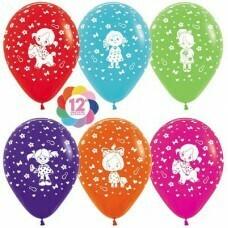 Гелиевые шары с рисунком «Ассорти для девочки»