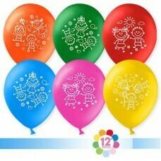 Гелиевые шары с рисунком «Ассорти с Мальчиками и девочками»