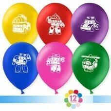 Гелиевые шары с рисунком «Ассорти Роботачки»