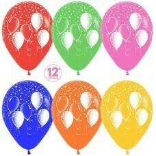 Гелиевые шары с рисунком «Ассорти шариков на шариках»