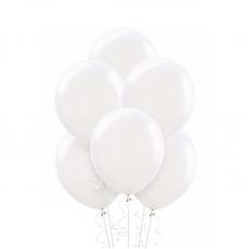 Воздушный шарик Белый, металлик.