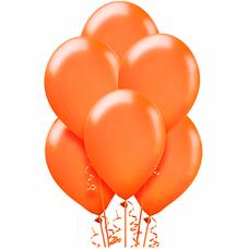 Воздушный шарик Оранжевый металлик