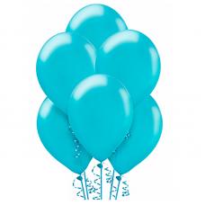 Воздушный шарик Голубой металлик.