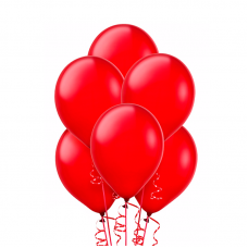 Воздушный шарик красный, металлик.