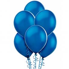 Воздушный шарик Синий, металлик.