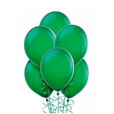 Воздушный шарик Зеленый, металлик.