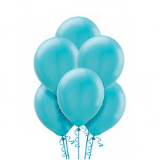Воздушный шарик Карибский голубой металлик