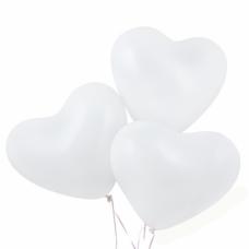 Латексный воздушный шар-сердце белые