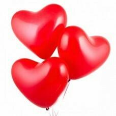 Латексный воздушный шар-сердце красные