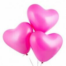 Латексный воздушный шар-сердце Фуше