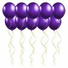 Шары под потолок Фиолетовые «Пастель»