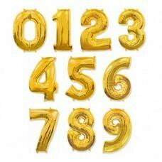 Цифра фольгированная гигантская, золото