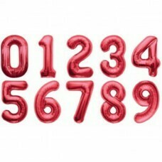 Цифра фольгированная гигантская, красный