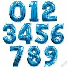 Цифра фольгированная гигантская, синий