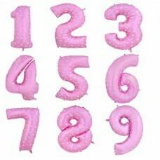 Цифра фольгированная гигантская детская, розовый