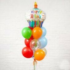 Композиция из воздушных шаров «Happy Birthday» №39